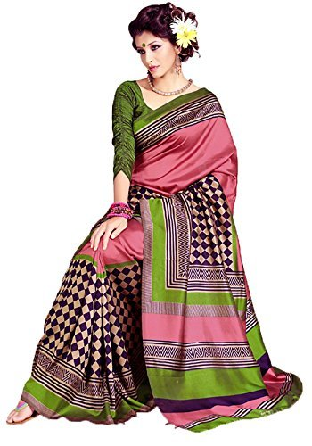 Samskruti Exclusive Fancy Checks Art Silk Saree