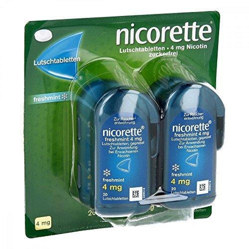 Nicorette freshmint 4 mg Lutschtabletten gepresst 80 stk