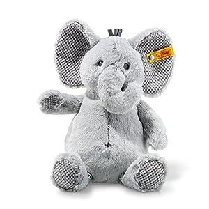 Steiff Soft Cuddly Friends Ellie Elefante Felpa, Sintético Gris - Juguetes de Peluche (Elefante, Gris, Felpa, Sintético, Elefante, Ellie, Niño/niña)