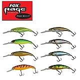 Fox Rage Slick Stick Wobbler SDR 9cm, 15g, Raubfischangeln, verschiedene Farben zur Auswahl, Super Deep Runner, Tiefläufer, Hechtköder, Wanderköder, Forellenköder, Farbe:Firetiger