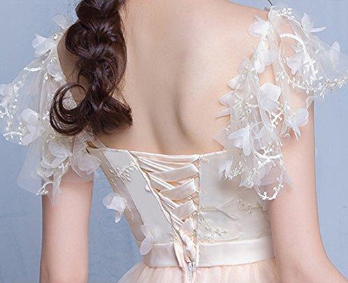 LaoZan Damen Elegant Cocktailkleid Brautjungfernkleid Spitzenkleid Festliches für Kleid Hochzeit Partykleid Hutform B