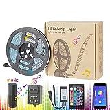 LED intelligente Lichtleiste, Stimme mit Handy-Steuerung Verwendet für TV Hintergrundbeleuchtung Familiendekoration Musik Lichtleiste Zertifizierung Kit Alexa Stimme Wifi Lichtleiste,5M300LED12V5A