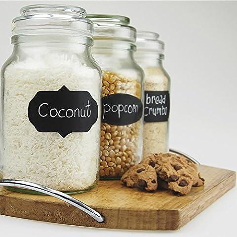 acmebuy £ ¨ TM) 36x piccole Chalk lavagna Mason Jar etichette rimovibili adesivi da parete lavagna Cheap unico cucina organizzatore Decor
