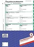 AVERY Zweckform 2887 Mahnbescheid Antrag (A4, selbstdurchschreibend, 1 Satz) grün