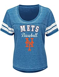 "New York Mets Mujer Majestic MLB ""Loving el Juego Mezcla de"" Dual Camisa, extra-large"