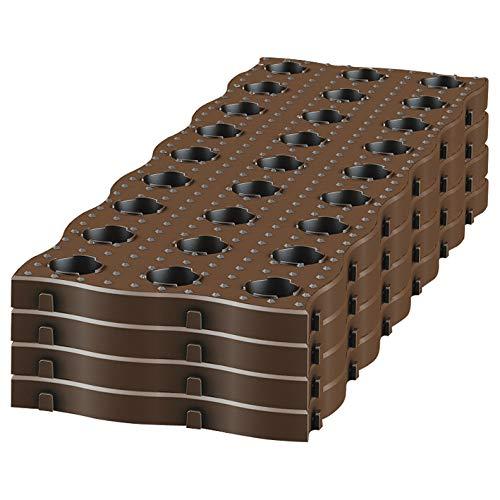 Garantia MaXi Beetplatten (Gartenplatten), 700 x 240 x 25 mm - einfach und schnell, trittsicher und flexibel - 240400