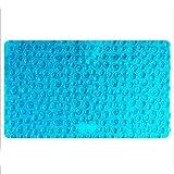 Badematten Rutschfest, Anti-Pilz Rutschfeste Pvc-Duschmatte, Rutschfeste Badewannenmatte, Haltbar, Blau Mit Saugnäpfen, Maschinenwäsche (Blau) 39 * 71 Cm
