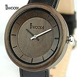 MSB Leder Quarzuhr Holz/Damen und Herren Bambus Uhren/Umweltfreundliche Uhren, 3