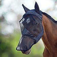 Harrison Howard CareMaster Máscara Anti-moscas Protección con orejas y nariz Negro (L; Full Size)