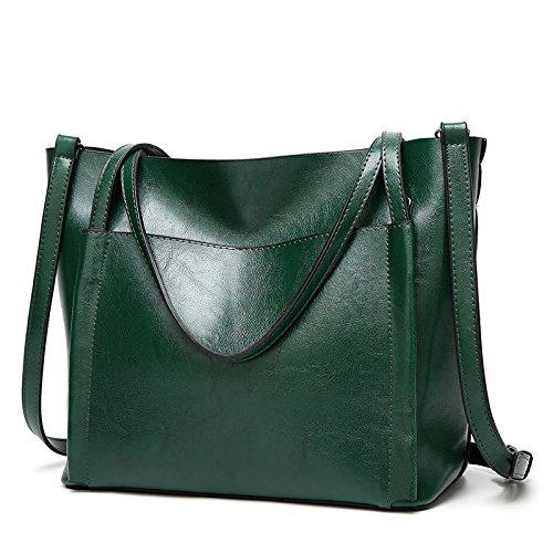 Mefly Nuova Moda Borsetta Borsa Donna Tutti-Match Borsa Per Portatile Claret green