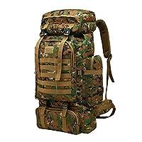 Fmeida Hiking Backpack 60L/75L Trekking Rucksack Large Capacity Lightweight Waterproof Bag for Camping Climbing - Jungle Camou