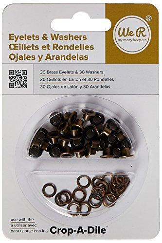 WE R Memory Keepers standard-brass Ösen und Unterlegscheiben Eyelet Tool-kit