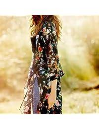 Amazon.es: Kimonos Negros - Blusas y camisas / Camisetas, tops y blusas: Ropa