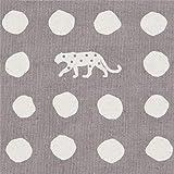 Graues Leinwandgewebe mit Panther und Punkten von echino