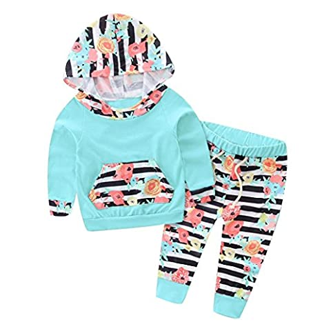 Boys/Girls Clothes Set, Transer® 0-2 Years Baby T shirts+Pants Infants Outfits Christmas Unisex Kids Hoodie Clothes 0-24 Months Toddlers Outwears Hooded Clothes (0-6 Months, Green)