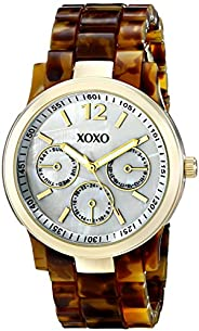 XOXO Womens Quartz Watch, Analog Display and Plastic Strap XO5509