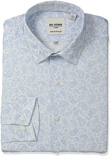 ben-sherman-mens-paisley-print-shirt-with-soho-spread-collar-light-blue-white-165-neck-34-35-sleeve