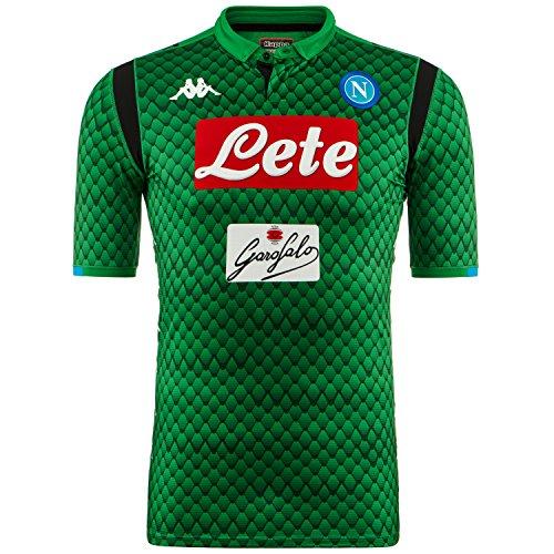 SSC Napoli Camiseta de portero local verde fantasía, verde, l