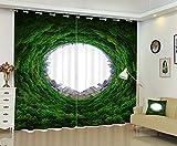 Waple Ein Blick auf Die Wälder und Städte 3D Fenster Vorhang Für Zu Hause Angepasste Größe 240X260CM