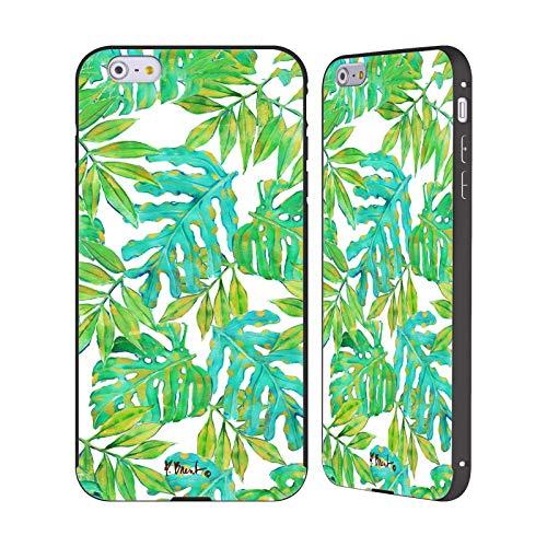 Head Case Designs Offizielle Paul Brent Blätter Von Hawaii-Inseln Tropisch Schwarze Aluminium Bumper Slider Huelle kompatibel mit iPhone 6 Plus/iPhone 6s Plus