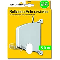 Schellenberg 50506 Aufschraubwickler, 5 m Schnur,schwenkbar, weiß