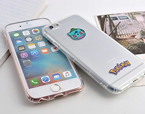 "Phone Kandy® Pokemon Anti choc anti-choc transparents transparent mignon TPU Silicone Coquille Case & Screen Guard (iPhone 6 Plus (5.5""), 11. Pokemons) 9. Squirtle"