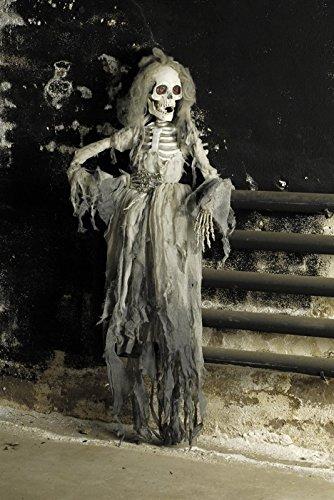Skelettbraut Halloween-Deko weiss-grau 150cm Einheitsgröße