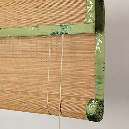 Tapparelle di bambù, tende da sole parasole, tende a rullo filtranti, avvolto a mano, balcone della galleria da giardino, su misura (misura: 120cm × 160cm)