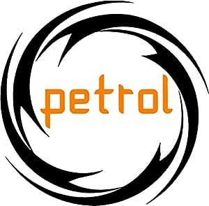 CVANU (Discounted Pack of 2) Petrol Sticker Fuel Reminder Decals Size (11.5 Cm. X 11.5 Cm.)