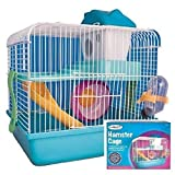 Ardisle Syrian Dwarf Hamster Gerbil Mouse Small Pet Cage 2 Floor With Wheel House Carry