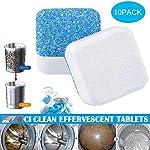 Washing Machine Cleaners, Womdee Washing Machine Tank Cleaning Sheet, Washer Decontamination Cleaning Detergent...