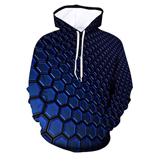 Mens Neuheit Color Block Hoodies Cosy Sport Outwear, ☆Elecenty☆ Sweatershirt Tops Mit Kapuze Bluse Pullover Pullover Mäntel -