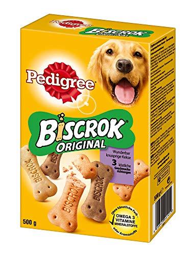 Pedigree Biscrok Hundesnacks 3 köstlichen Geschmacksrichtungen, 6er Pack (6 x 500 g) -