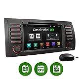 XOMAX XM-71BA Autoradio mit Android 10 passend für BMW E39 5er M5, E53 X5, 4Core, GPS Navigation, DVD, CD I Support: WiFi, 4G, DAB+, OBD2 I Bluetooth, 7 Zoll/18 cm Touchscreen, USB, SD