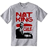 Photo de teesquare1st Men's NAT King Cole Jazz Grey T-Shirt par teesquare1st
