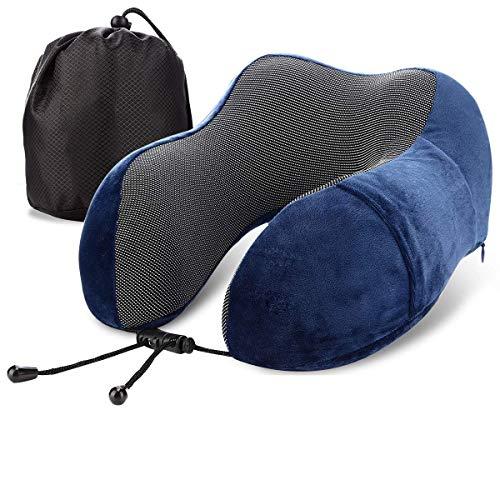 Reisekissen Nackenkissen Bequemes und Leichtes Reisen Kissen mit Aufbewahrungstasche- für Schlaf im Flugzeug, Büro, Auto oder Zug
