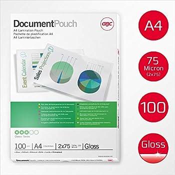 100 Fellowes Apex Pouches Lucide A4 100 Micron x Plastificare Documenti e Fogli
