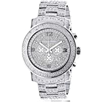 Oversized Iced Out Mens Diamond Watch by