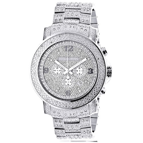 Oversized-Iced-Out-Mens-Diamond-Watch-by-Luxurman-White-Gold-Plated-2ct