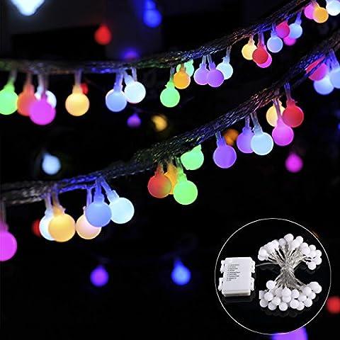 B-right® 40 LEDs Globe Lichterkette, LED lichterkette bunt, Globe String Licht Sternenlicht, Innen- und Außen Deko Glühbirne, Weihnachtsbeleuchtung für Weihnachten / Hochzeit /
