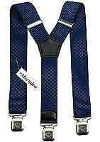 Bretelles Y entièrement réglable pour Homme Femme 4 cm avec 3 clips élastique Solide Casual Pantalon Jeans Différentes couleurs Noir, Marron, Bleu