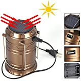 D PEX LED Solar Emergency Rechargeable Night Light Travel Camping Lantern With USB Mobile Charging Point / Solar Lights For Home / Led Solar Emergency Light Lantern / Solar Lamp / Rechargeable Light / Solar Power Bank