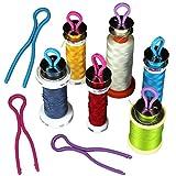 Sujing 10/20 / 30pcs kops halten die Spule Threads verglichen mit ihren Faden spulen Faden spulen Rollen veranstalter und Sparer (30)