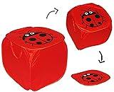 Aufbewahrungsbox / Wäschebox - Marienkäfer - mit Deckel & Henkel - für Kinder Kiste Box - aus Nylon - Truhe / Spielzeugbox Spielzeugkiste Spielzeugtruhe / Wäschekorb - Wäschesammler - Mädchen Jungen