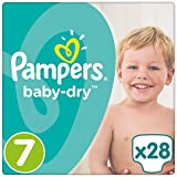 Pampers Baby Dry couches, Taille 7 (17  + kg), de 4 (4 x 28 pièces)