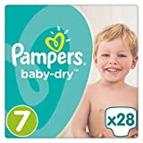 Couches-culottes Pampers Baby-Dry7(17+ kg), Lot de 1 (1x 28pièces).