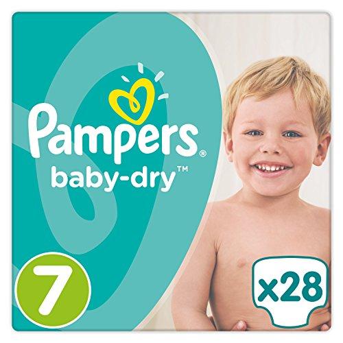 Pampers Baby Dry Windeln, Gr. 7 (17+ kg), 4er Pack (4 x 28 Stück)