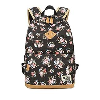 Patrón de Flores Bolso de Viaje de Lona Ocasional Bolso de la Escuela Adolescentes Bolsas de día Mochila Bolsa de Ordenador portátil