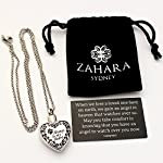 Zahara Pet Memorial Urn Necklace (20 Inches) with Velvet Pouch & Funnel | Always in My Heart Paw Pendant + Chain 11