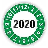 5-1.000 Stück Prüfplaketten Prüfetiketten Wartungsetiketten Jahresplakette 2020 Ø 30mm (Grün 30 Stück)